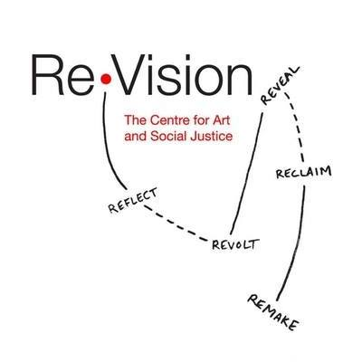 Re Vision Centre for Art and Social Justice text on a white background